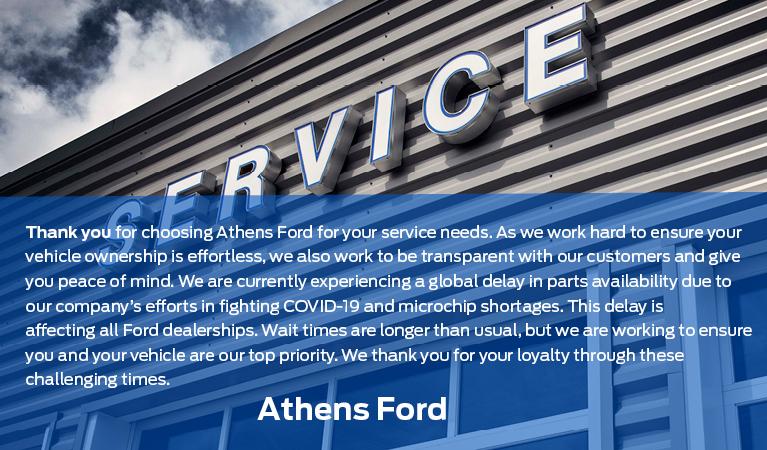 Service Delay Announcement